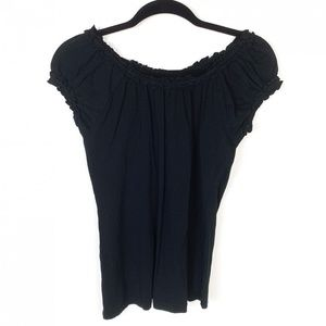 Chelsea & Theodore S Black Pima Cotton Top Blouse